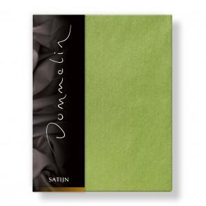 Dommelin Hoeslaken Deluxe Satijn Groen 80 x 200 cm