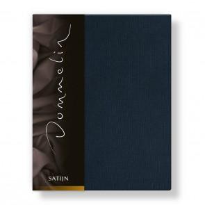 Dommelin Hoeslaken Deluxe Satijn Nachtblauw