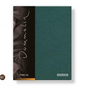 Dommelin Hoeslaken Hoge Hoek Deluxe Percal Antiekgroen 160 x 210 cm