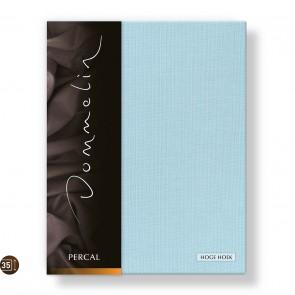 Dommelin Hoeslaken Hoge Hoek Deluxe Percal Pastelblauw 180 x 220 cm