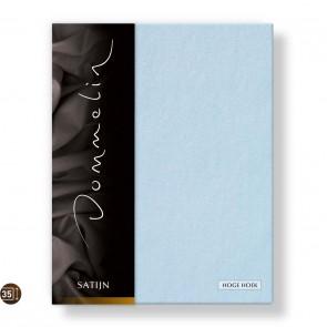 Dommelin Hoeslaken Hoge Hoek Deluxe Satijn Lichtblauw 180 x 220 cm