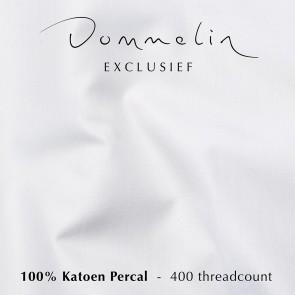 Dommelin Topper Hoeslaken 5-9 cm Percal 400TC Wit 160 x 200 cm