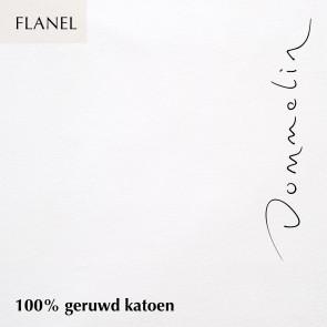 Dommelin Hoeslaken Flanel Wit 160 x 200 cm