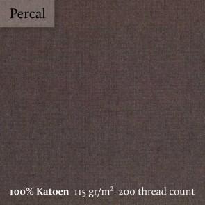 Dommelin Dubbel Split Topper Hoeslaken 10-14 cm Percal 200TC Bruin
