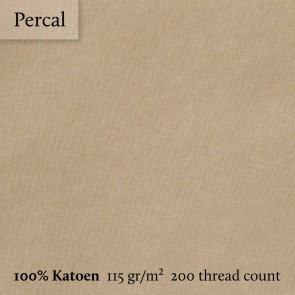Dommelin Dubbel Split Topper Hoeslaken 10-14 cm Percal 200TC Cafe