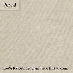 Dommelin Dubbel Split Topper Hoeslaken 10-14 cm Percal 200TC Camel