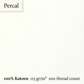 Dommelin Dubbel Split Topper Hoeslaken 10-14 cm Percal 200TC Ecru