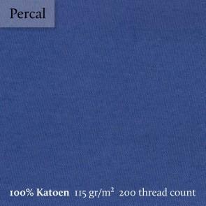 Dommelin Kussensloop Volant Percal 200TC Jeansblauw