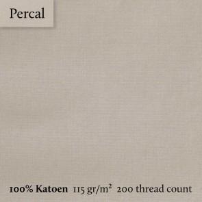 Dommelin Kussensloop Volant Percal 200TC Kaki