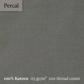Dommelin Split Topper Hoeslaken 5-9 cm Percal 200TC Leisteengrijs