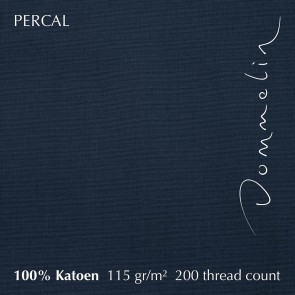 Dommelin Hoeslaken Hoge Hoek Percal 200TC Nachtblauw 105 x 210 cm