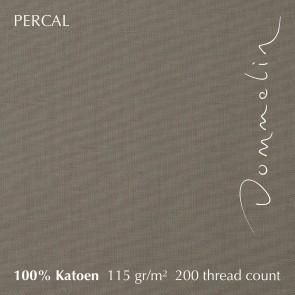 Dommelin Hoeslaken Hoge Hoek Percal 200TC Taupe 105 x 210 cm