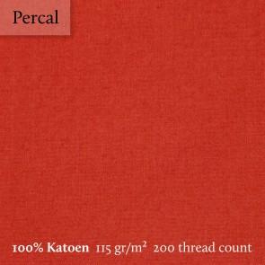 Dommelin Bedrok Percal 200TC Terracotta