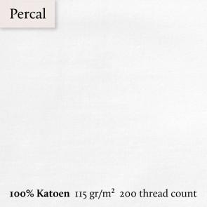 Dommelin Topper Hoeslaken 10-14 cm Percal 200TC Wit
