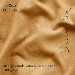Dommelin Hoeslaken Jersey Deluxe Messing