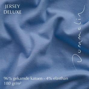 Dommelin Hoeslaken Jersey Deluxe Middenblauw