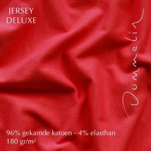 Dommelin Hoeslaken Jersey Deluxe Rood