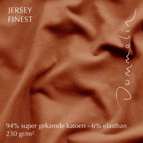 Dommelin Hoeslaken Jersey Finest Terracotta