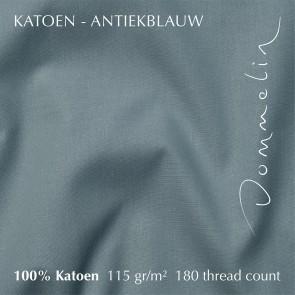 Dommelin Hoeslaken Hoge Hoek Katoen Antiekblauw 105 x 210 cm