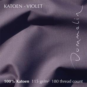 Dommelin Hoeslaken Hoge Hoek Katoen Violet 105 x 210 cm