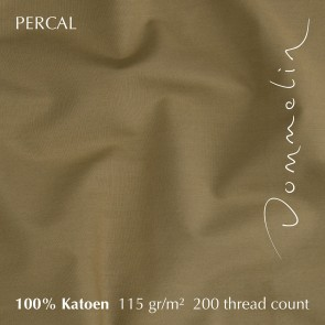 Dommelin Dekbedovertrek Percal 200TC Brons eenpersoons