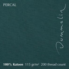 Dommelin Topper Hoeslaken 10-14 cm Percal 200TC Antiekgroen