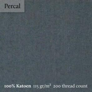 Dommelin Topper Hoeslaken 10-14 cm Percal 200TC Donkergrijs 100 x 200 cm