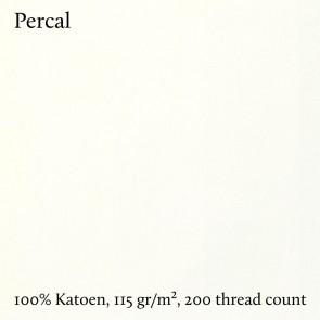 Dommelin Topper Hoeslaken 10-14 cm Percal 200TC Ecru 100 x 200 cm