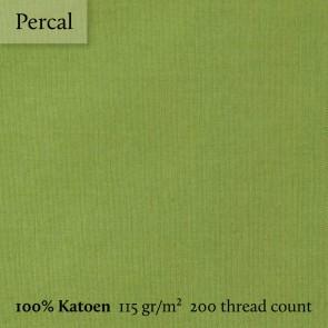 Dommelin Topper Hoeslaken 5-9 cm Percal 200TC Groen 100 x 200 cm
