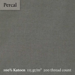 Dommelin Topper Hoeslaken 10-14 cm Percal 200TC Leisteengrijs 100 x 200 cm