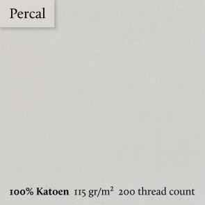 Dommelin Topper Hoeslaken 10-14 cm Percal 200TC Ivoor 100 x 200 cm