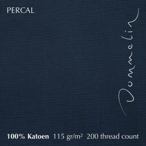 Dommelin Hoeslaken Hoge Hoek Percal 200TC Nachtblauw 210 x 220 cm