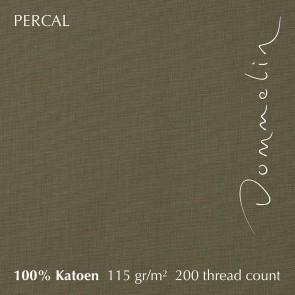 Dommelin Dubbel Split Hoeslaken Deluxe Percal Olijfgroen