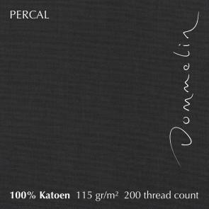 Dommelin Topper Hoeslaken 10-14 cm Percal 200TC Steenkool