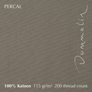 Dommelin Topper Hoeslaken 10-14 cm Percal 200TC Taupe 80 x 210 cm