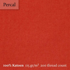 Dommelin Kussensloop 3 Volant Percal 200TC Terracotta
