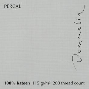 Dommelin Hoeslaken Hoge Hoek Percal 200TC Zilver