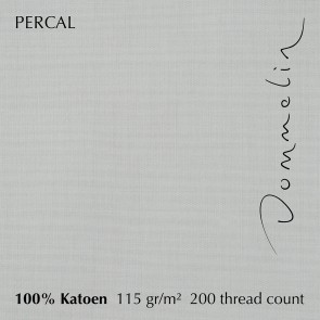 Dommelin Dubbel Split Hoeslaken Percal 200TC Zilver