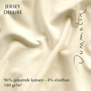Dommelin Hoeslaken Jersey Deluxe Ivoor