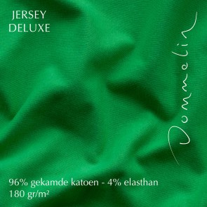 Dommelin Hoeslaken Jersey Deluxe Smaragd