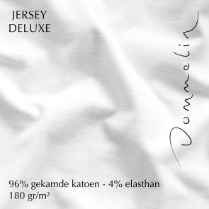 Dommelin Hoeslaken Jersey Deluxe Wit 90 x 200 cm