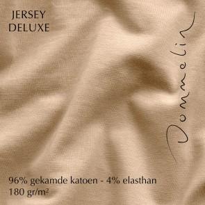 Dommelin Hoeslaken Jersey Deluxe Zand