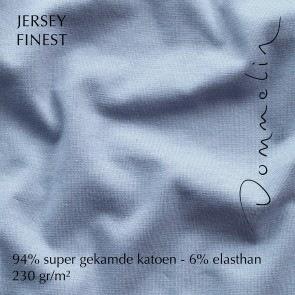 Dommelin Hoeslaken Jersey Finest Lichtblauw
