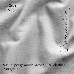 Dommelin Hoeslaken Jersey Finest Zilver