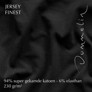 Dommelin Hoeslaken Jersey Finest Zwart