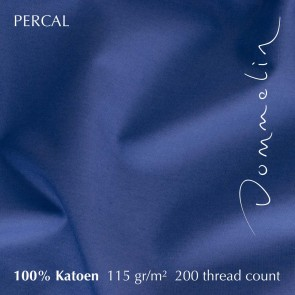 Dommelin Laken Percal 200TC Jeansblauw