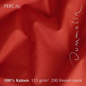 Dommelin Laken Percal 200TC Terracotta