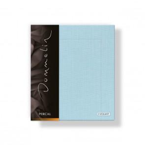 Dommelin Kussensloop 3 Volant Deluxe Percal Pastelblauw