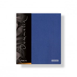Dommelin Kussensloop Percal 3 Volant Jeansblauw