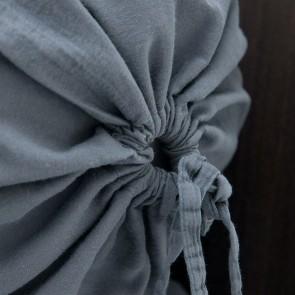 Mrs.Me Nekrol Stilo Steel Grey Satin 300TC 25 x 90 cm